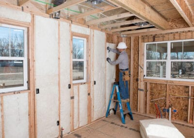 Austin Company | Fiberclass residential insulation in home