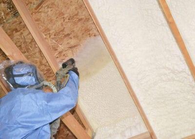 Austin Company | open cell spray foam in ceiling